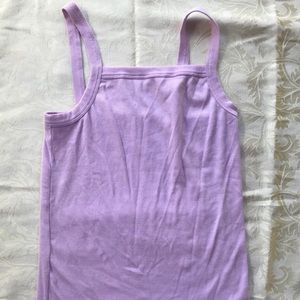 Old Navy purple ribbed tank top